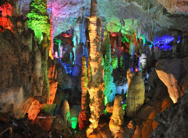 The colorful cave of Jiuxiang, Kunming