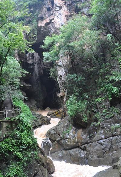 The stream of Jiuxiang, Kunming