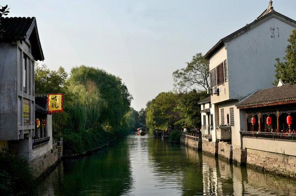 Typical watertown scene of Mudu Ancient Town, Suzhou