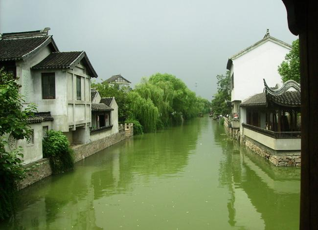 The beautiful view of Mudu Ancient Town, Suzhou