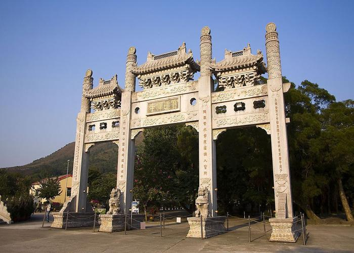 Archway of Po Lin Monastery