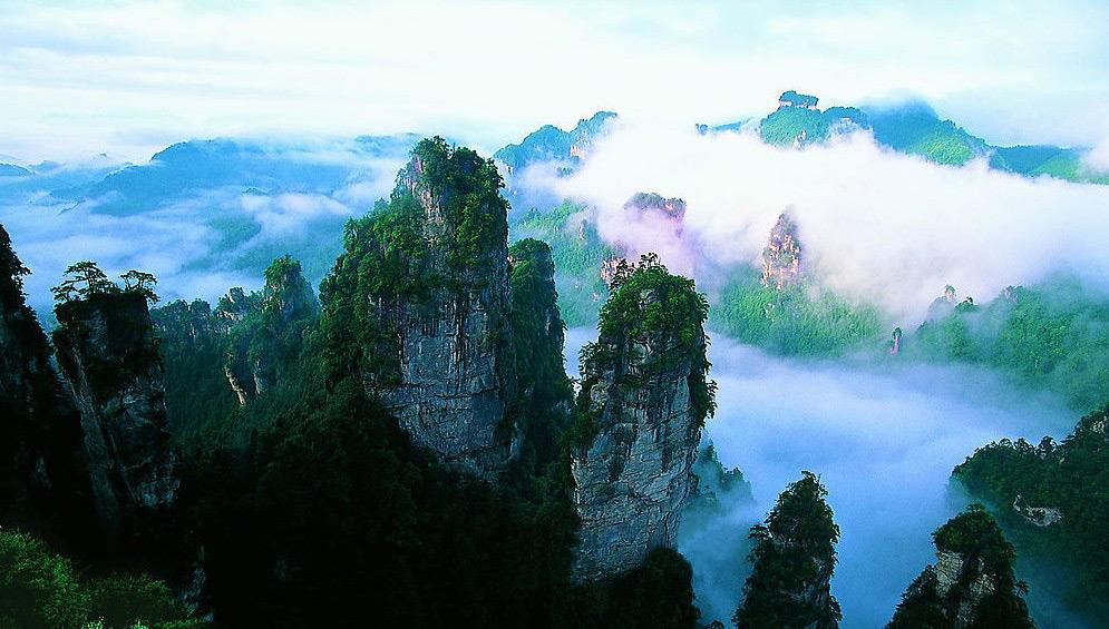 Huangshi Village in Clouds