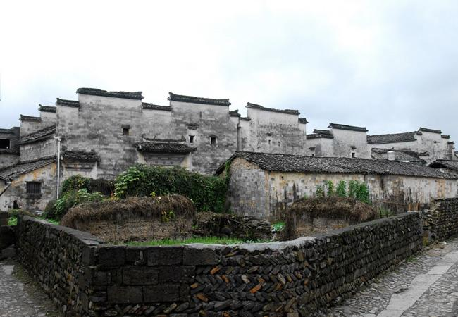The unique ancient Huizhou style dwellings, Nanping Village of Huangshan