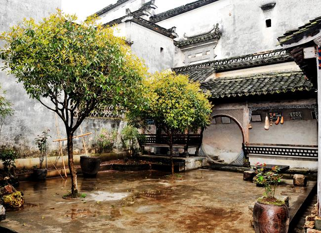 An interior view of a dwelling in the ancient village of Nanping