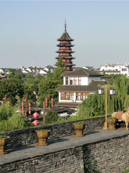 A scene from the ancinet city wall of Pan Gate, Suzhou