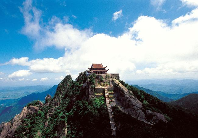 Mt. Jiuhua is one of China's four Buddhism mountains.