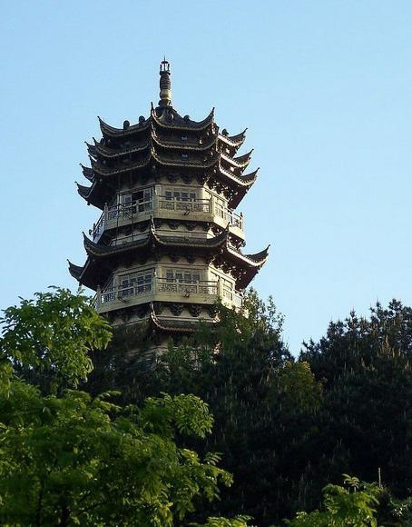 The Buddhism pagoda in Mt. Jiuhua