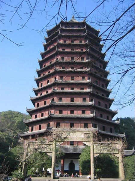 The magnificant Six Harmonies Pagoda of Hangzhou City
