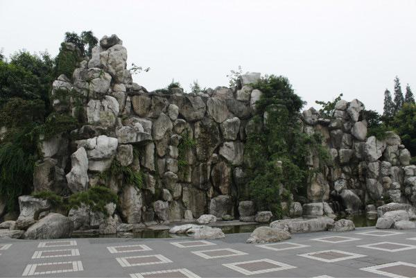 The rockery in People's Park of Chengdu