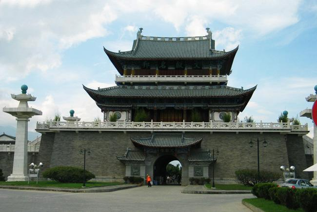 The Wenxian Pavilion in Dali Ancient City.