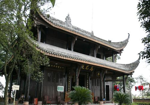 The main building of Wuyou Temple