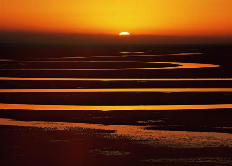 Sunset at The First Bend of Yellow River