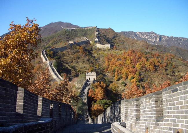 The Mutianyu Great Wall of Beijing is specially beautiful in autumn.