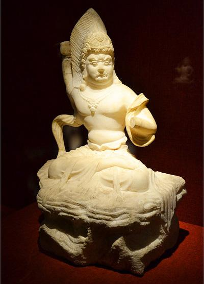 The sculpture displayed in the Stone Carving Art Museum of the Forest of Stele Museum, Xi'an