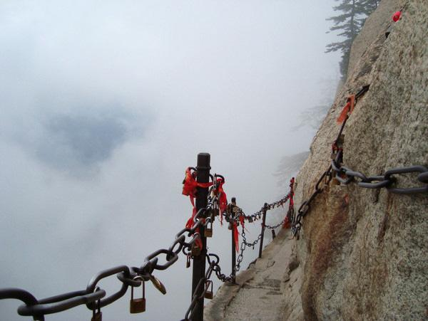 The breathtaking cliff path of the Huashan Mountain, Xi'an