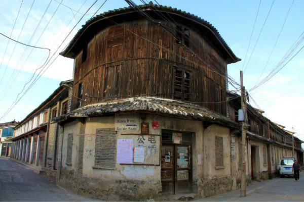 The old building and lane in Xizhou Ancient Town, Dali