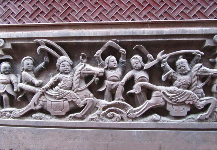 Carvings in Shangli Ancient Town,Chengdu