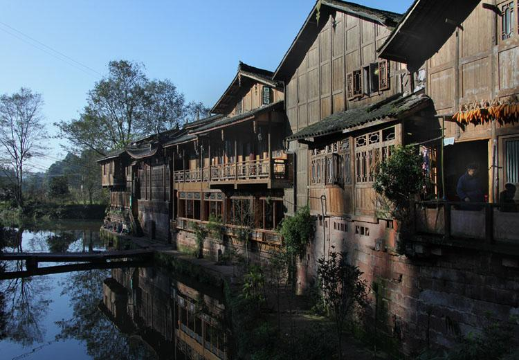 Architectures in Shangli Ancient Town,Chengdu