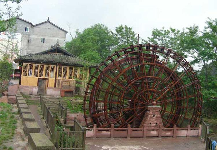 Waterwheel in Shangli Ancient Town,Chengdu