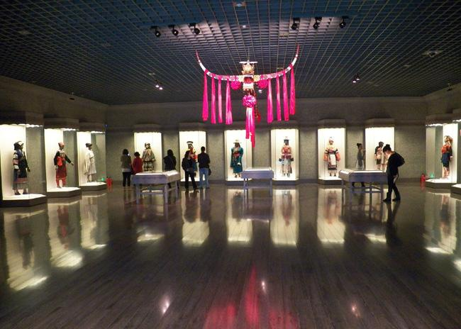 The exhibition hall for displaying ethnic costumes, Shanghai Museum