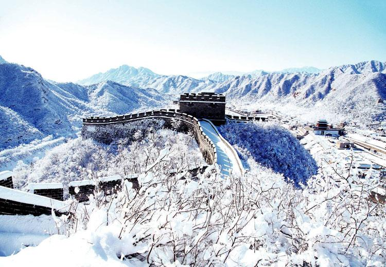 Scenery of Juyongguan Great Wall in Winter