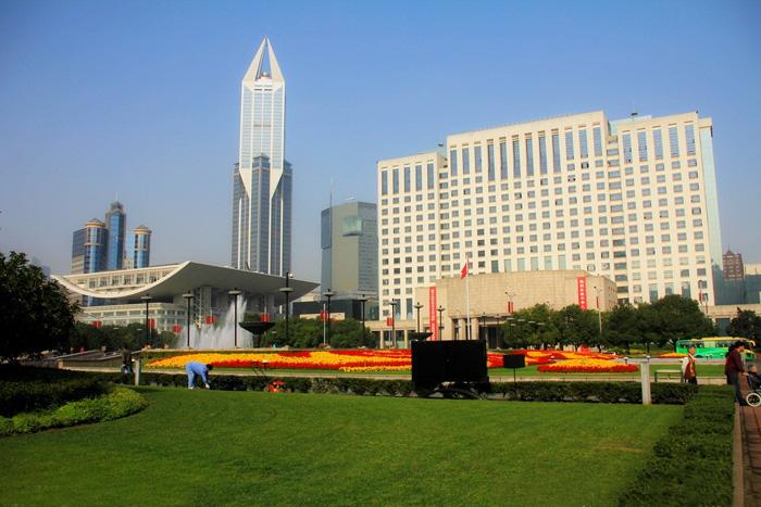 A view of the People's Square, Shanghai