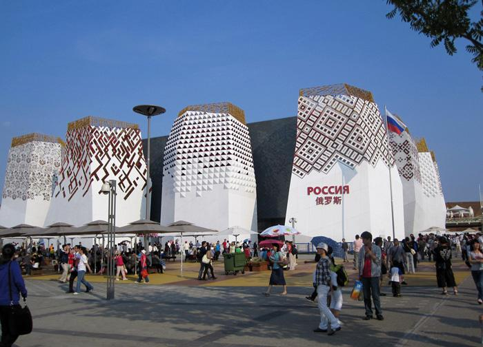 The Russia Pavilion in the Site of Expo 2010 Shanghai.