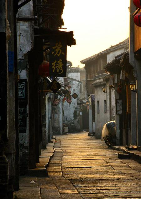 The peaceful lane of Xitang.