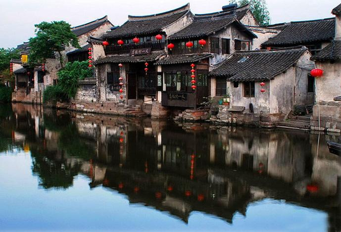 The picturesque houses of Xitang.
