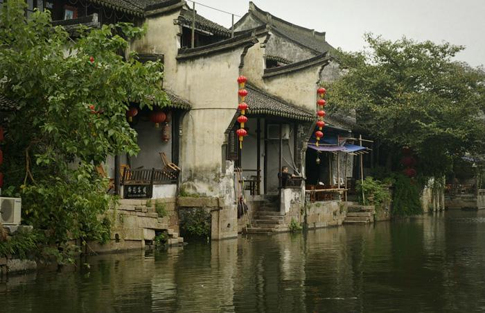 A view of the beaitiful ancient water town of Xitang.
