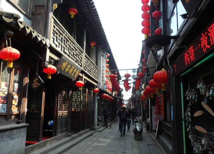 A business street in Zhouzhuang.