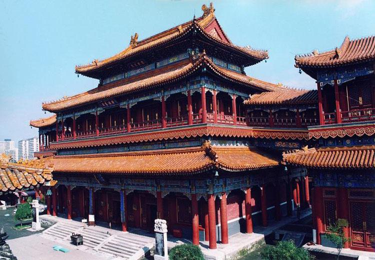 Wanfuge(Pavilion of Infinite Happiness)of Yonghe Lamasery, Beijing