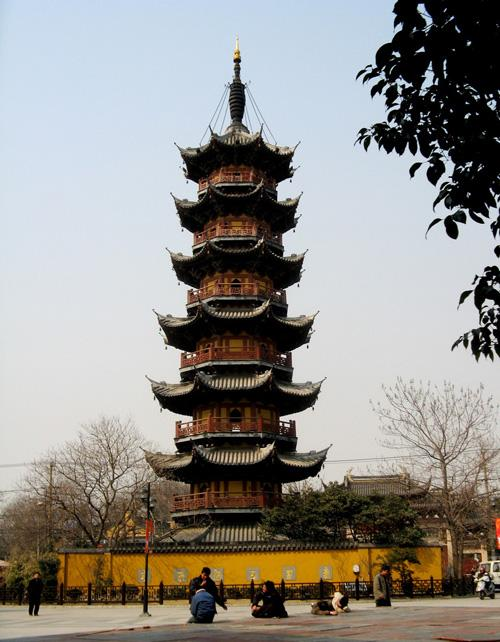 The pagoda of Longhua Temple, Shanghai