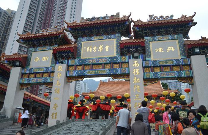 Wong Tai Sin Temple is a resplendent architectural complex standing among high-rises in Kowloon Peninsula.