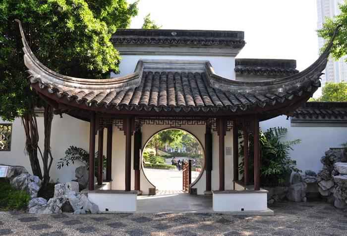 Kowloon Walled City Park is a typical Chinese garden style of Qing Dynasty, Hong Kong