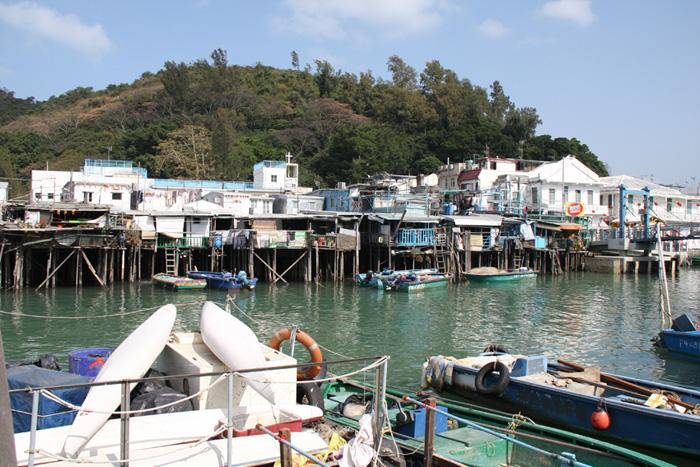A scene of Tai-O Fishing Village, Hong Kong