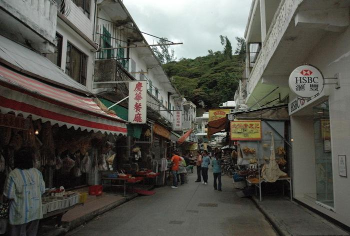 The market street of Tai-O Village, Hong Kong