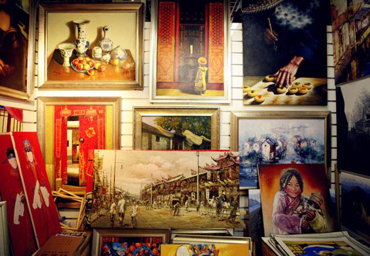 Paintings Sold at Xiushui Street, Beijing