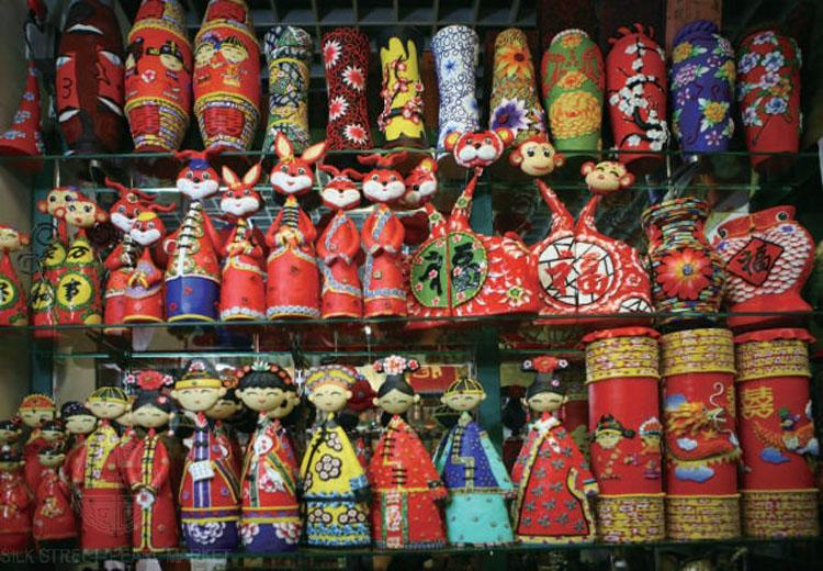 Souvenirs Sold at Xiushui Street, Beijing