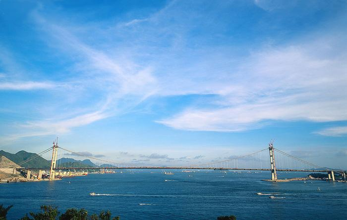 Tsing Ma Bridge is a key city landmark of Hong Kong.