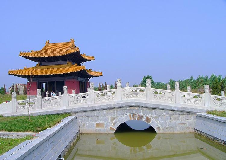 Minghuang Mausoleum is in Fengyang County of Anhui Province,China