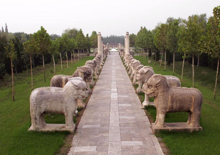 Ancestral Tombs of Ming Dynasty is in Jiangsu Province, China