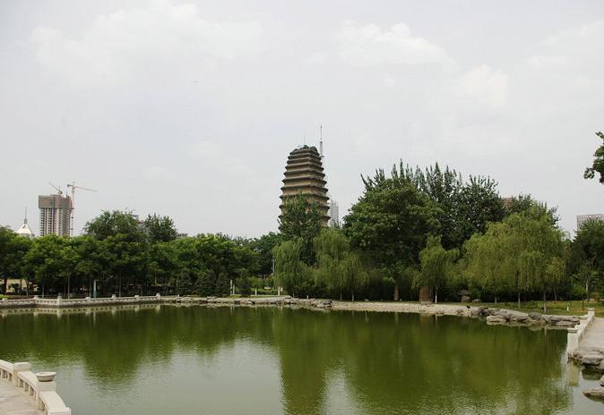 A view of the Small Wild Goose Pagoda, Xi'an