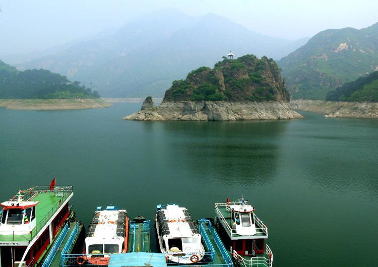 Yansaihu Lake of Shanhai Pass,Great Wall in China