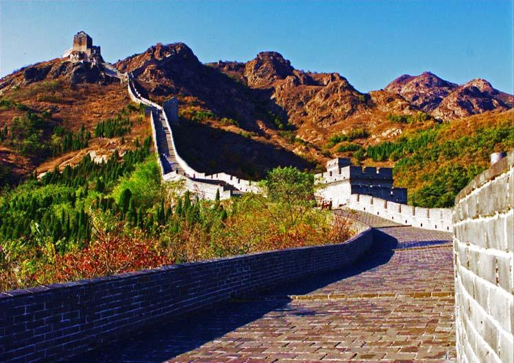 Jiaoshan Mountain of Shanhai Pass,Great Wall in China