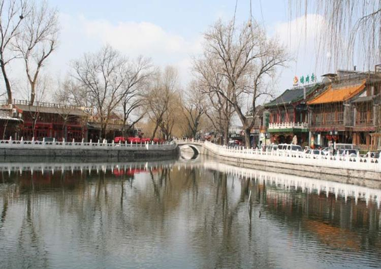 Scenery of Beijing Shichahai Scenic Area in Early Spring