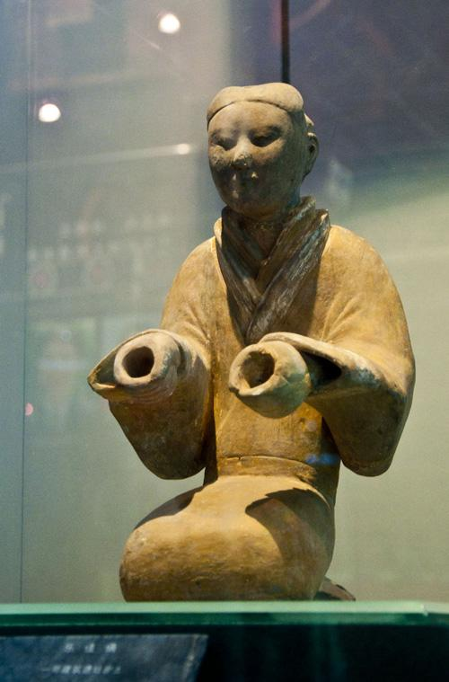 The pottery figures exhibited in the museum
