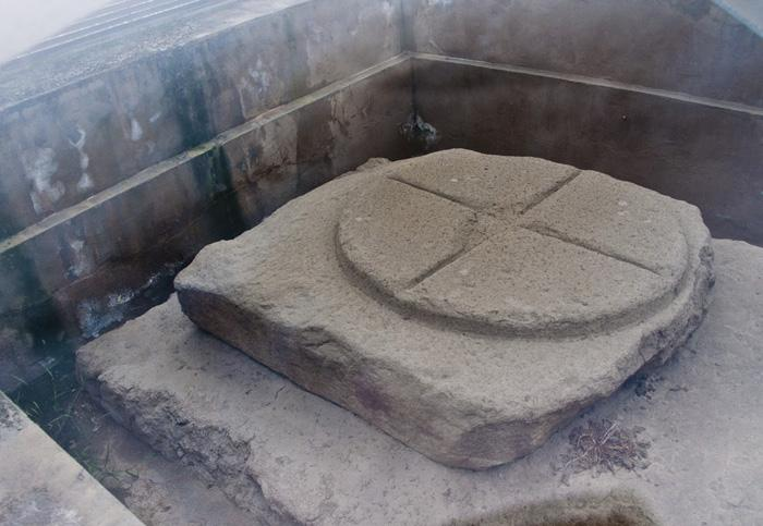 The stone compass in Hanyang Mausoleum, Xi'an