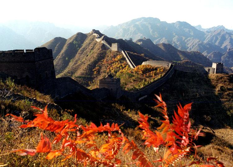 Beautiful Autumn Scenery of Huangyaguan Great Wall in China