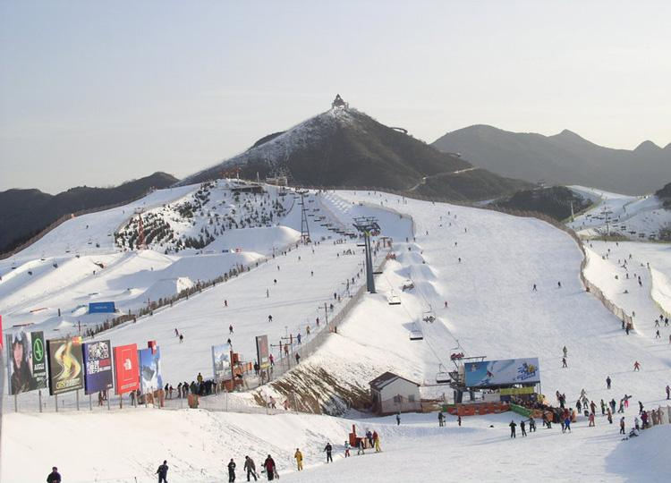 Nanshan Ski Resort is Situated in Miyun County, about 60 Kilometers from Beijing